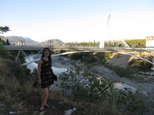 The Millennium Bridge- the first landmark I learned in Podgorica.
