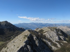 A view from the top of Montenegro.