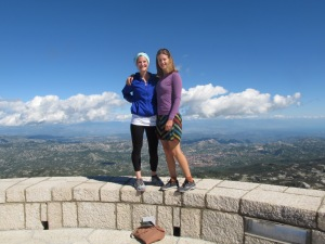 My hiking companion, Joanie and I on top of the Jezerski summit.