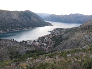 A glimpse of our final destination: Kotor