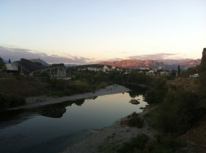 Beautiful sunset over Podgorica.