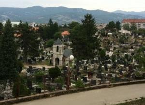 Overlooking a beautiful cemetery in Nikšić.